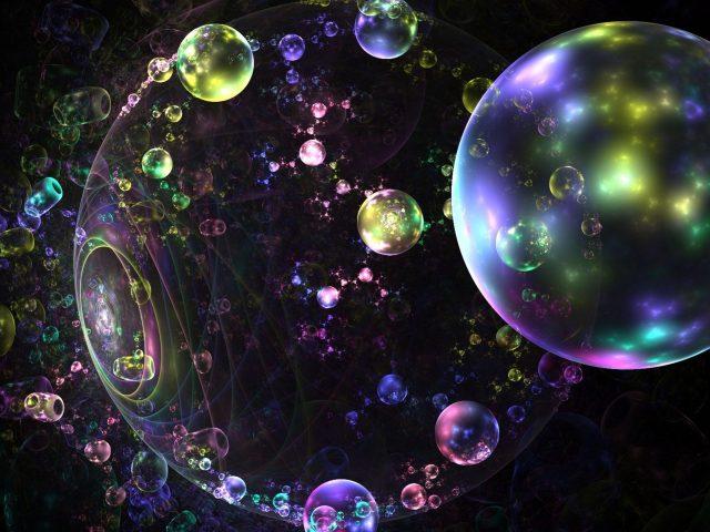 Блики фрактальные пузыри абстрактные