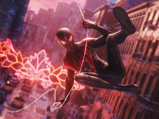 Человек-паук marvel Майлз Моралес летит