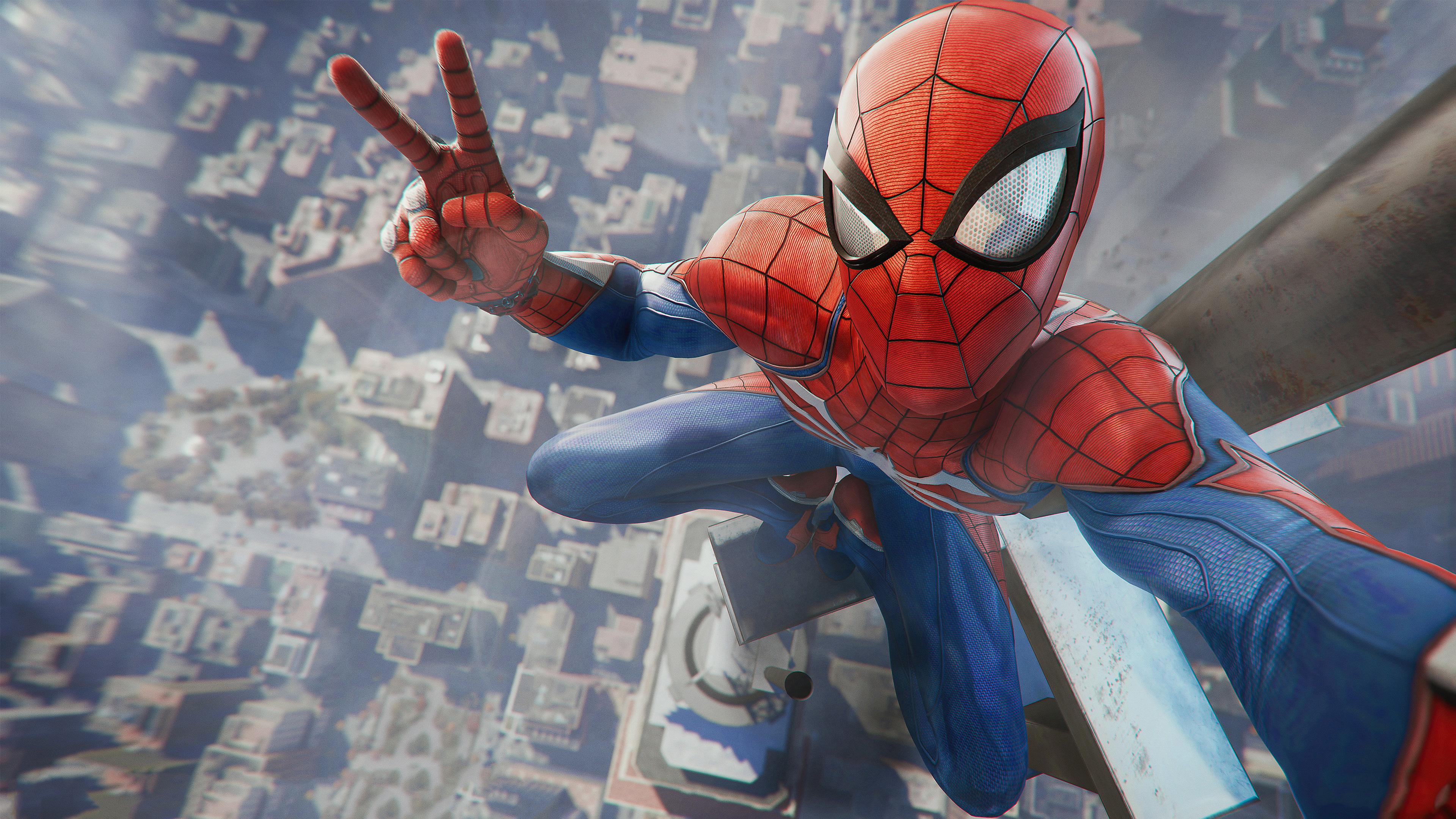 Человек-паук игра playstation 4 обои скачать