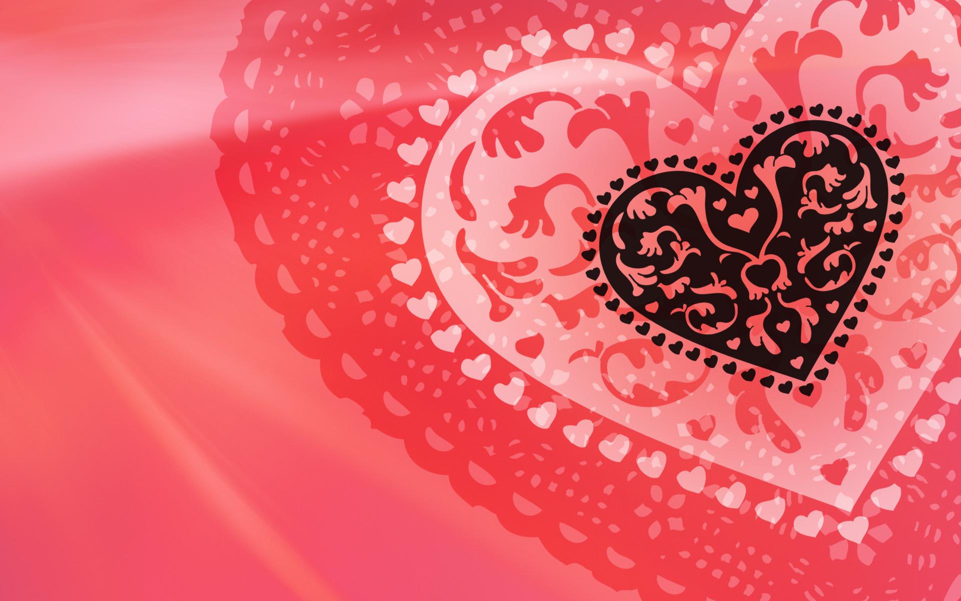 Любовь сердца абстрактный Валентина. обои скачать