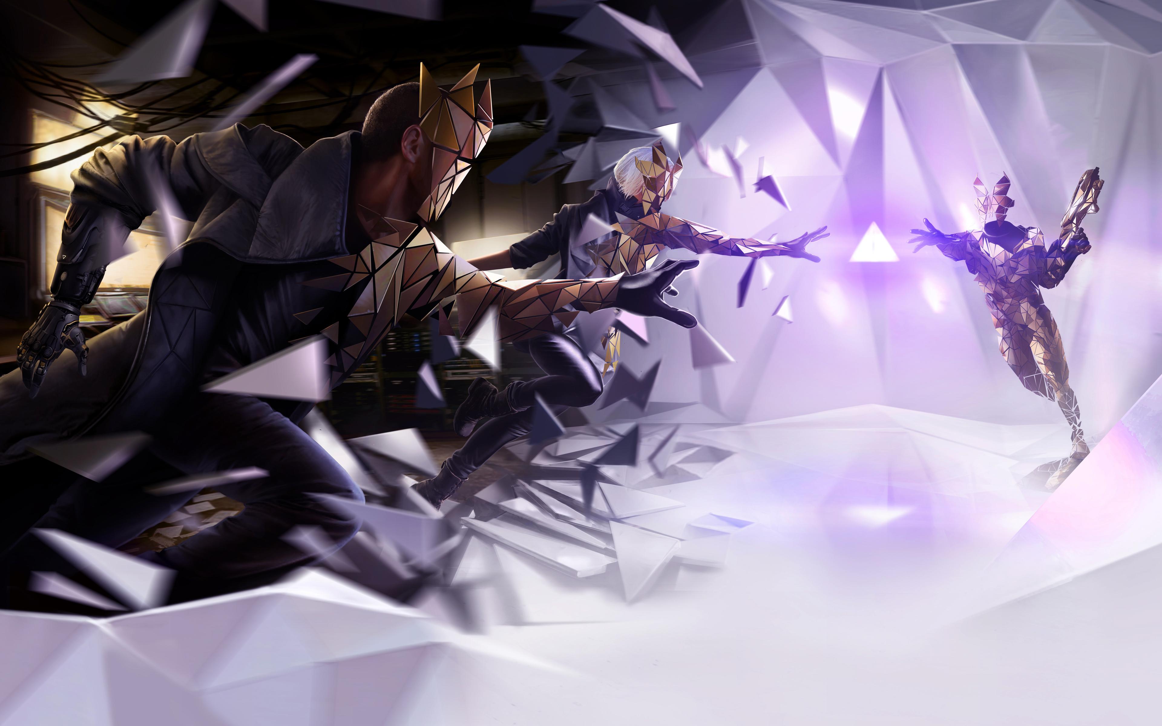 В Deus Ex человечество разделено нарушение обои скачать