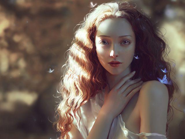 Красивая женщина, цифровое искусство
