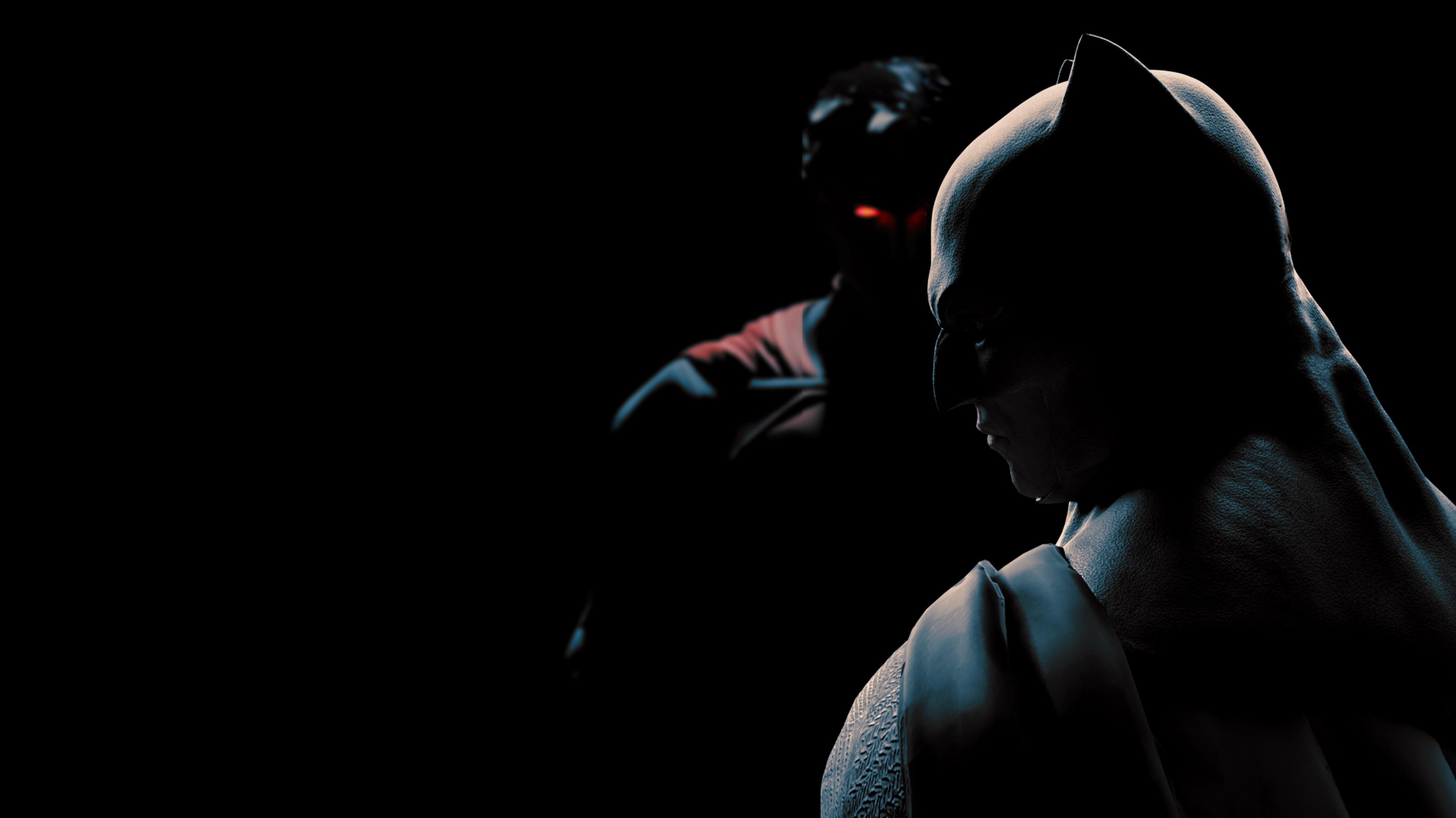 Супермен Бэтмен фан-арт обои скачать
