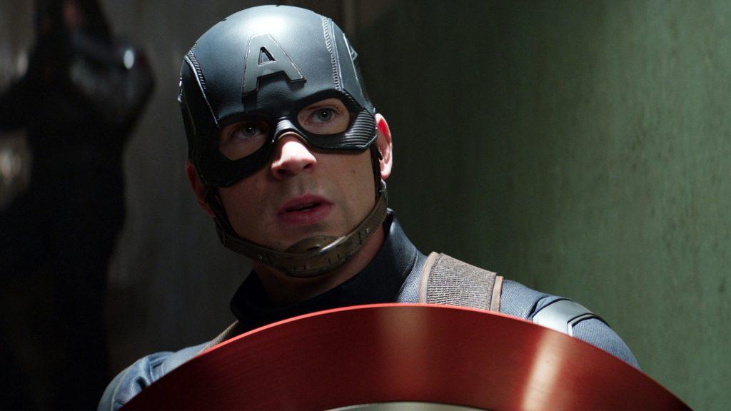 Крис Эванс Капитан Америка гражданская война. обои скачать