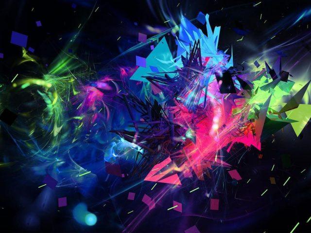 Красочные художественные формы вспышки абстракция абстракция