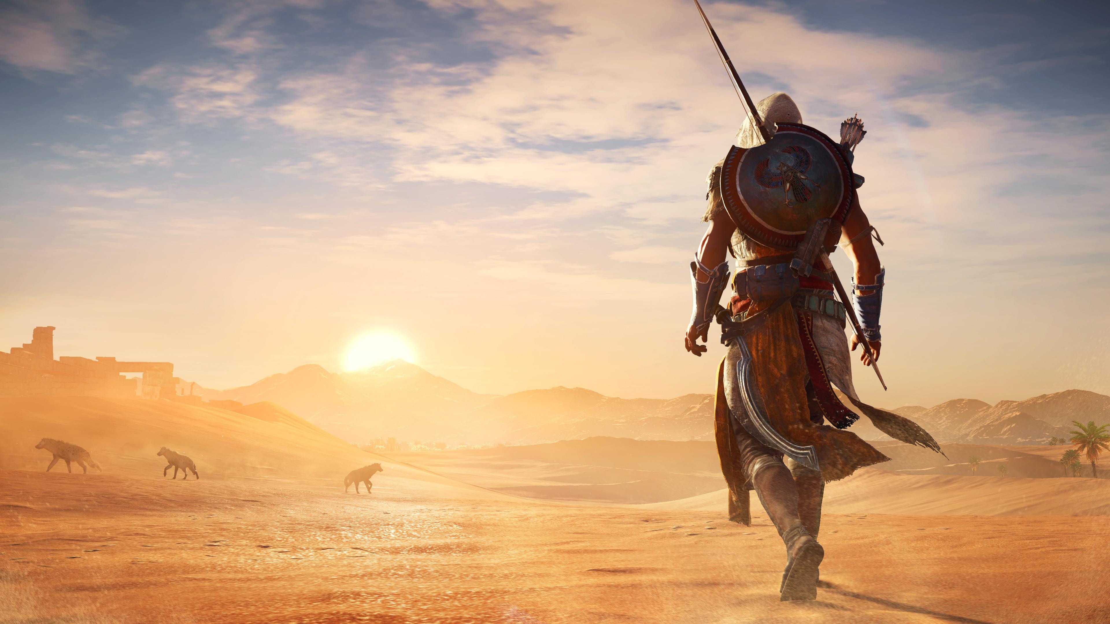 Ассассинс Крид происхождение жаркой пустыне. обои скачать