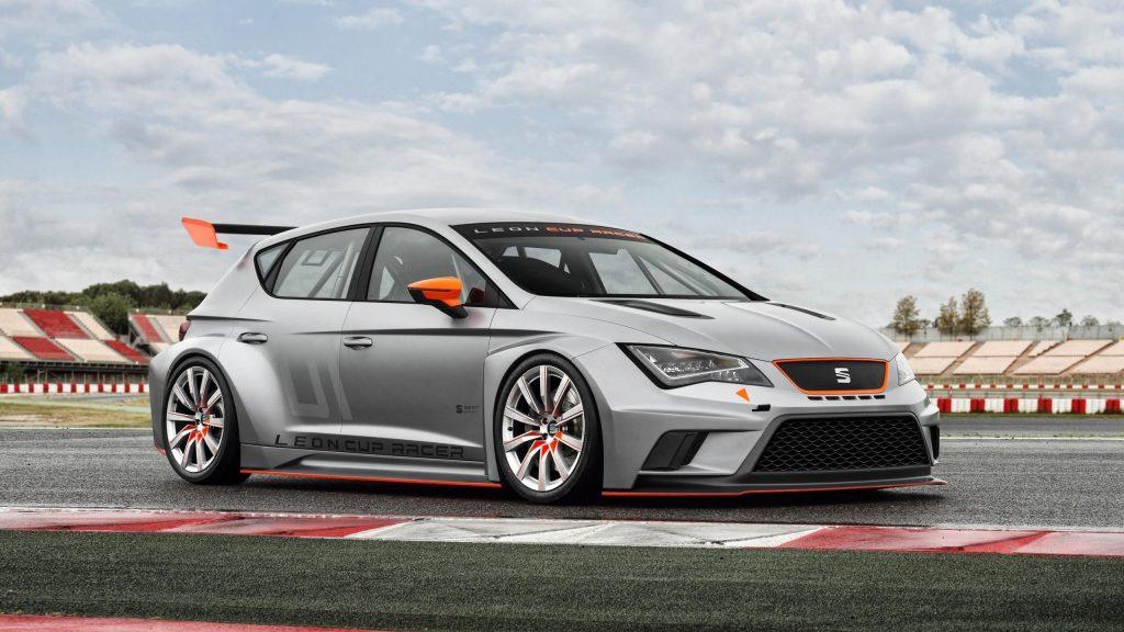 Seat leon cup racer concept silver car cars обои скачать
