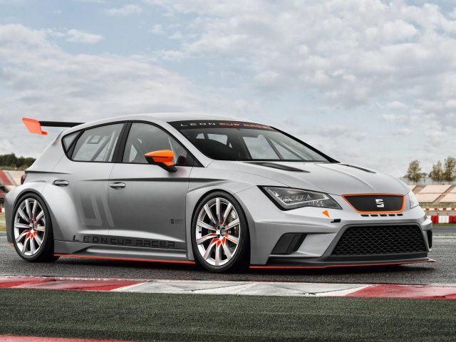Seat leon cup racer concept silver car cars