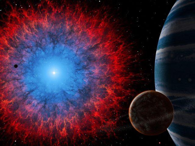 Dark nebula space.