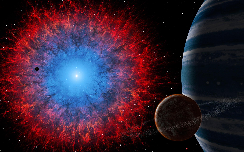 Dark nebula space. обои скачать