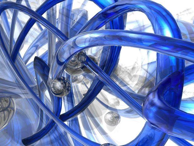 Синяя и белая труба абстрактная