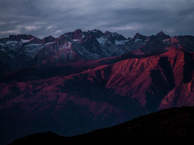 Горы после заката