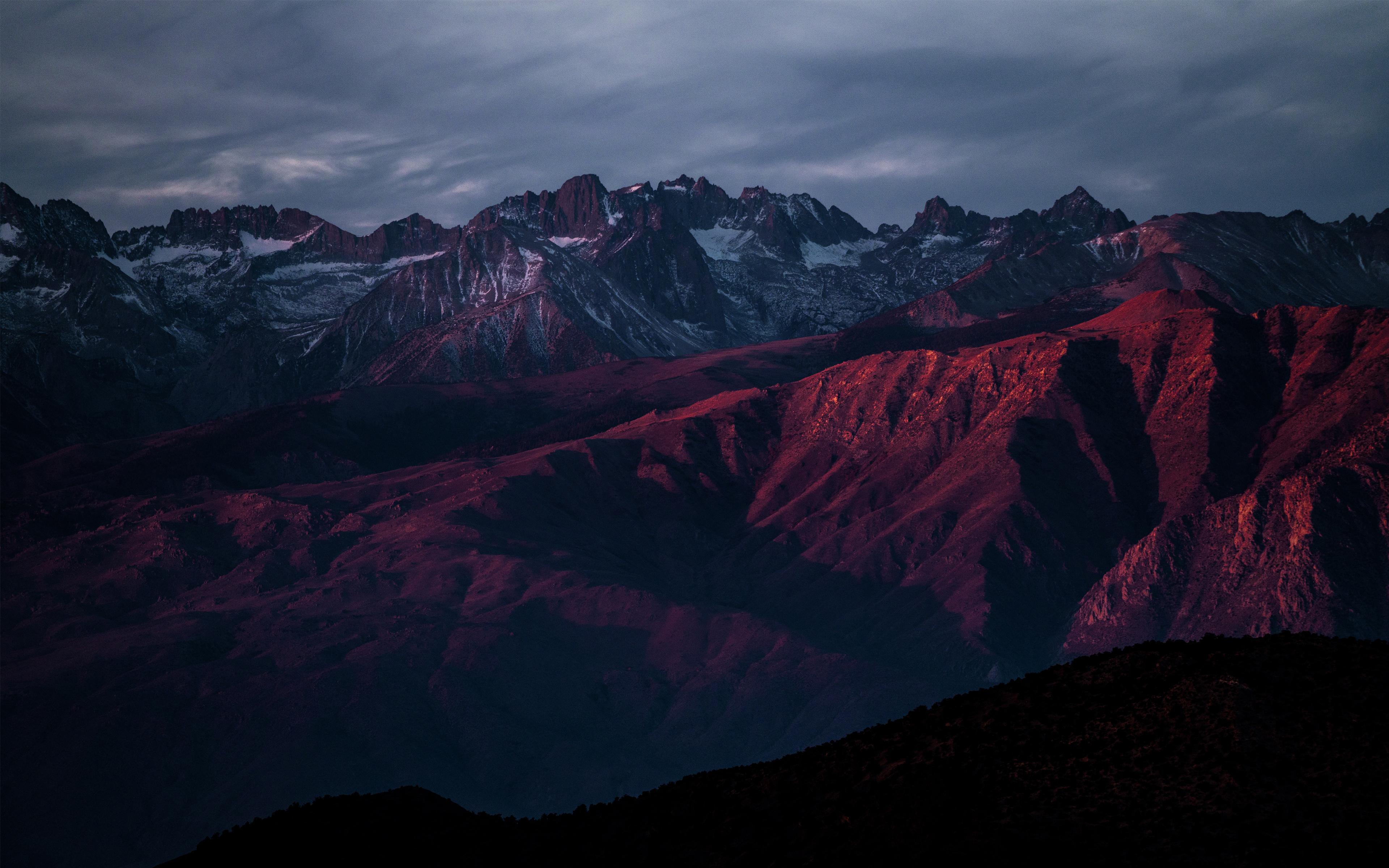 Горы после заката обои скачать