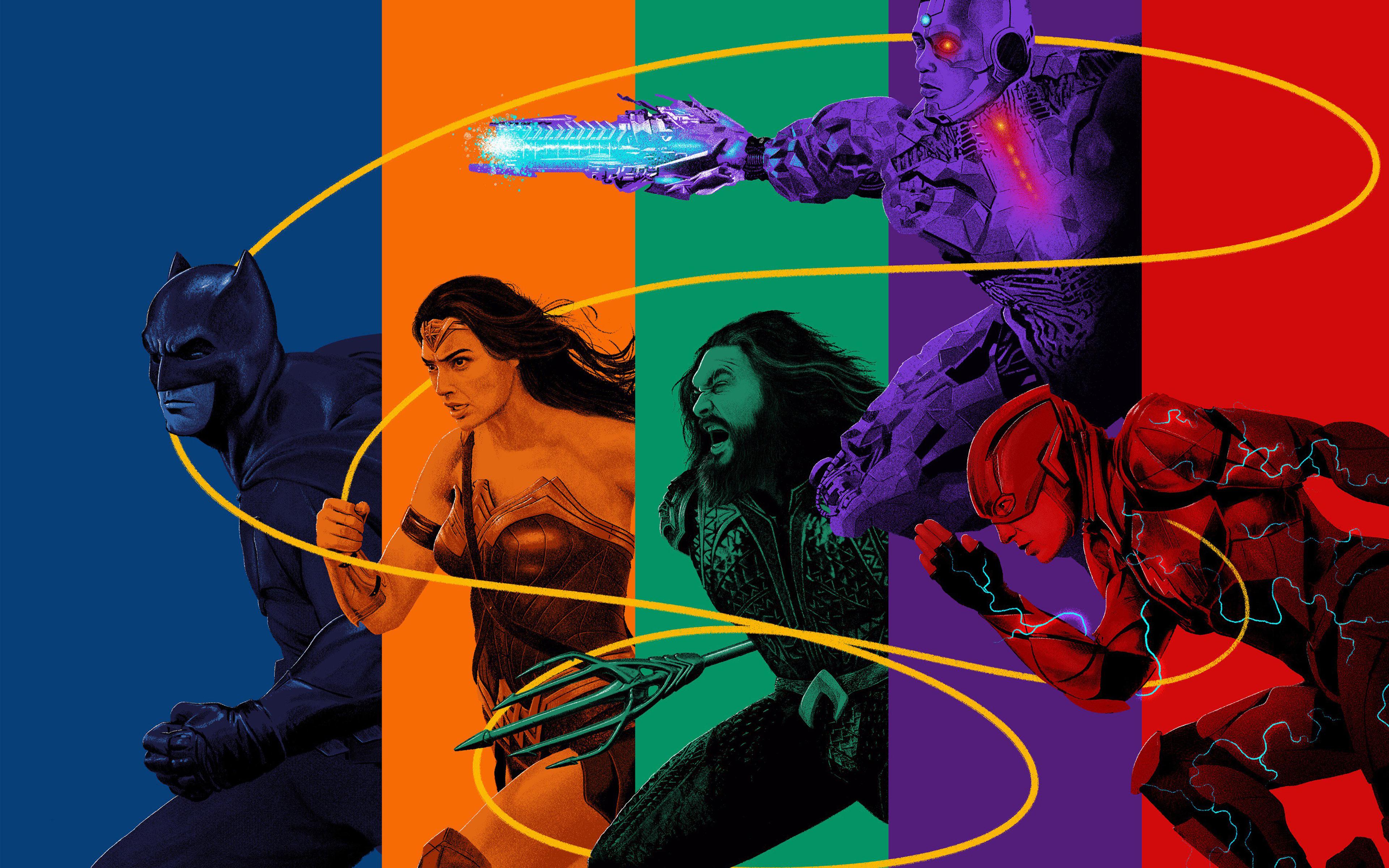 Супергерои Лиги Справедливости обои скачать