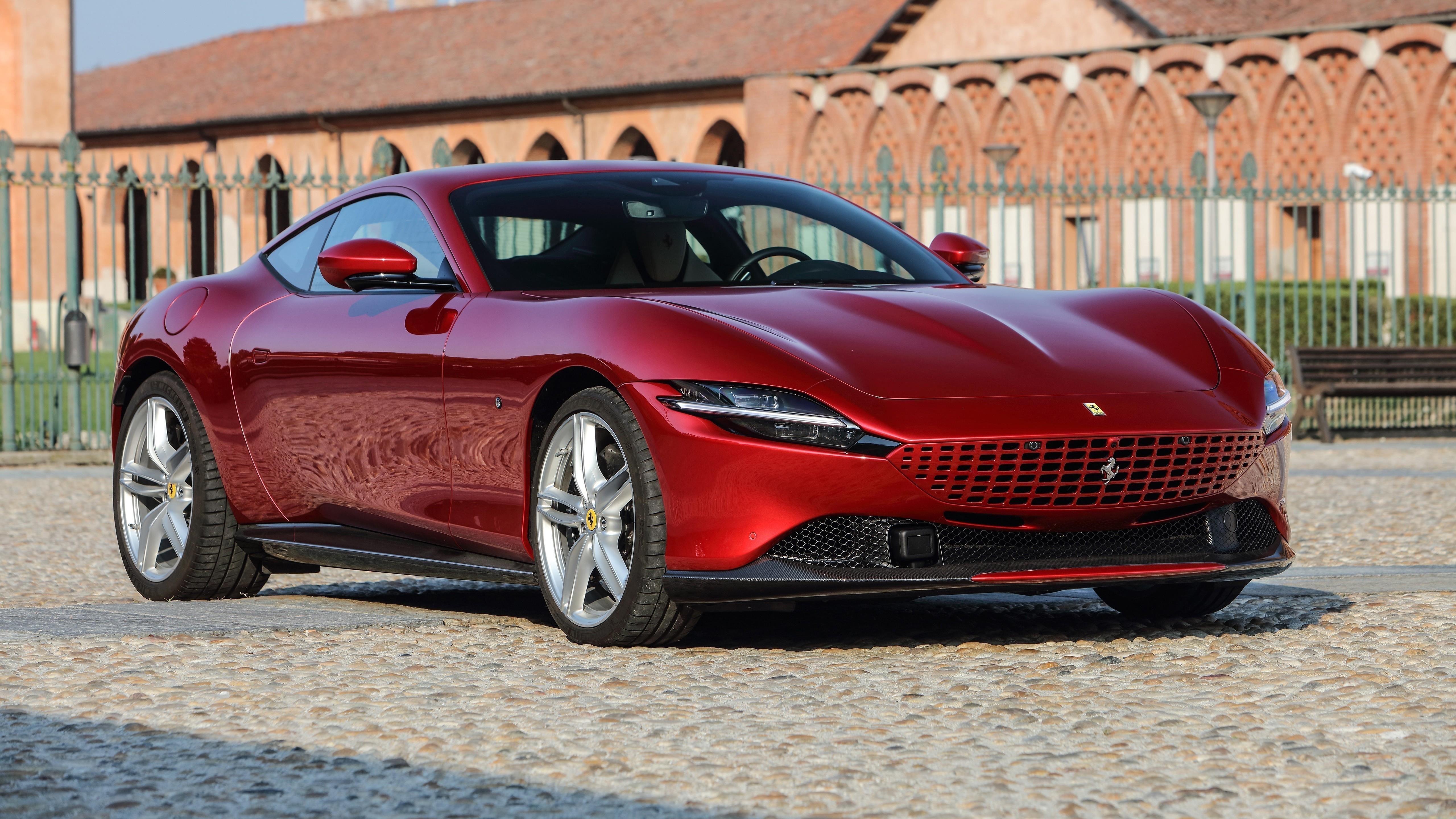 Ferrari roma 2021 6 автомобилей обои скачать
