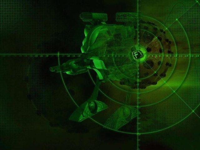 Зеленые круги с линиями абстрактные