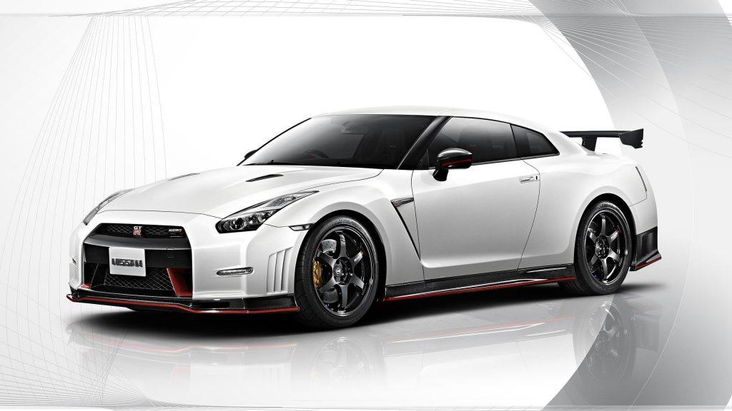 Nissan gt-r nismo белый автомобиль автомобили обои скачать