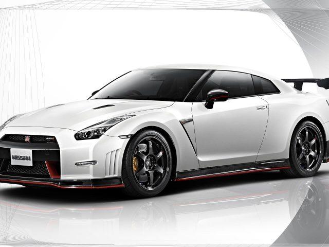 Nissan gt-r nismo белый автомобиль автомобили