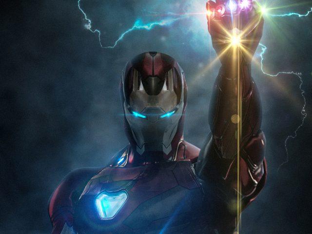 Железный Человек с Перчаткой Бесконечности