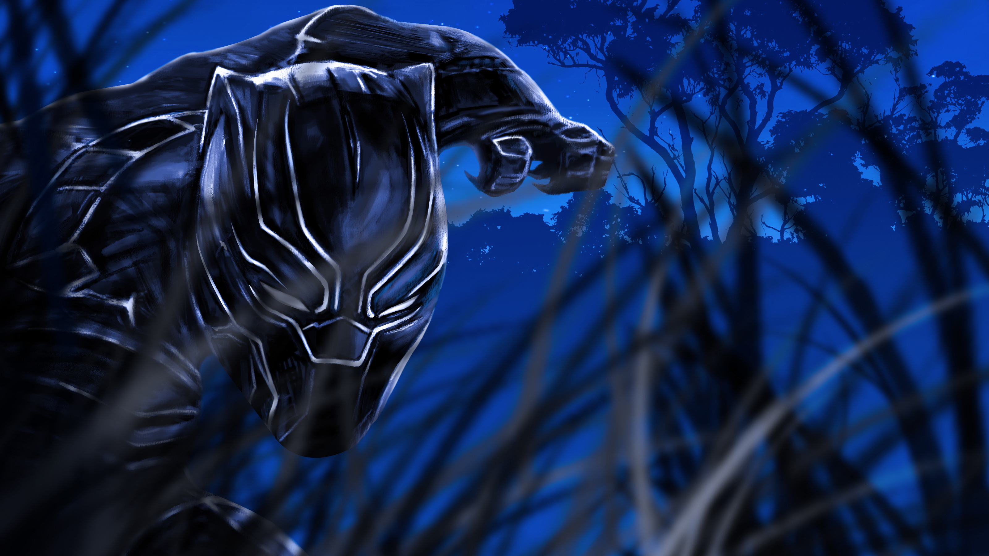 """Фан-арт """"Черная пантера"""" обои скачать"""