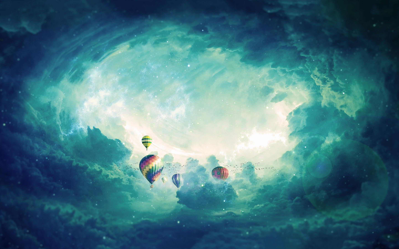 Воздушный шар обои скачать