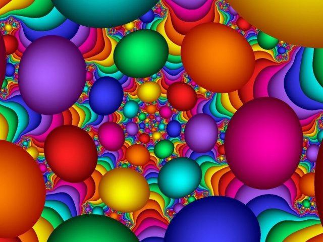 Абстрактные цветы абстрактные