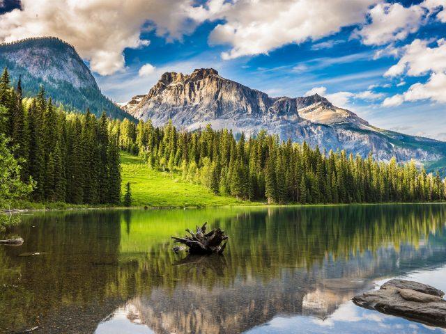 Изумрудное озеро в национальном парке Банф
