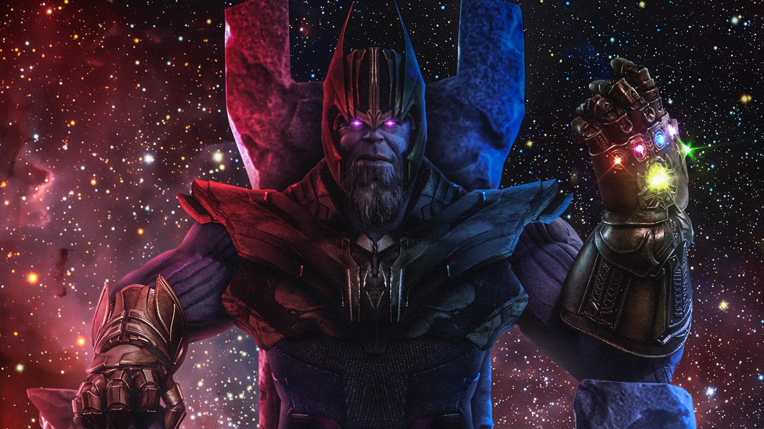 Танос фан-арт обои скачать