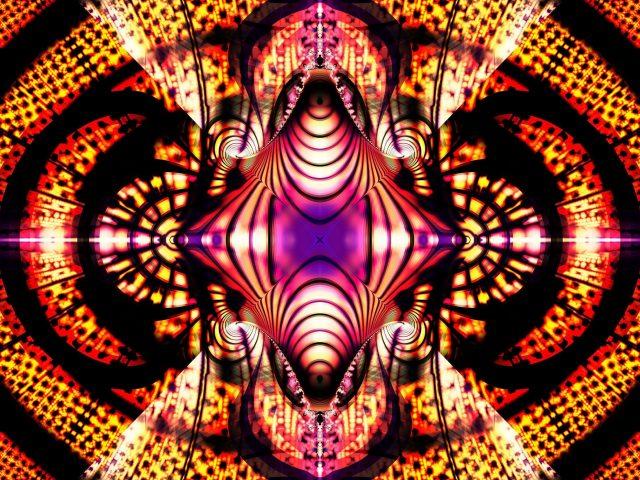 Красочные фрактальные фигуры светящийся узор абстрактный