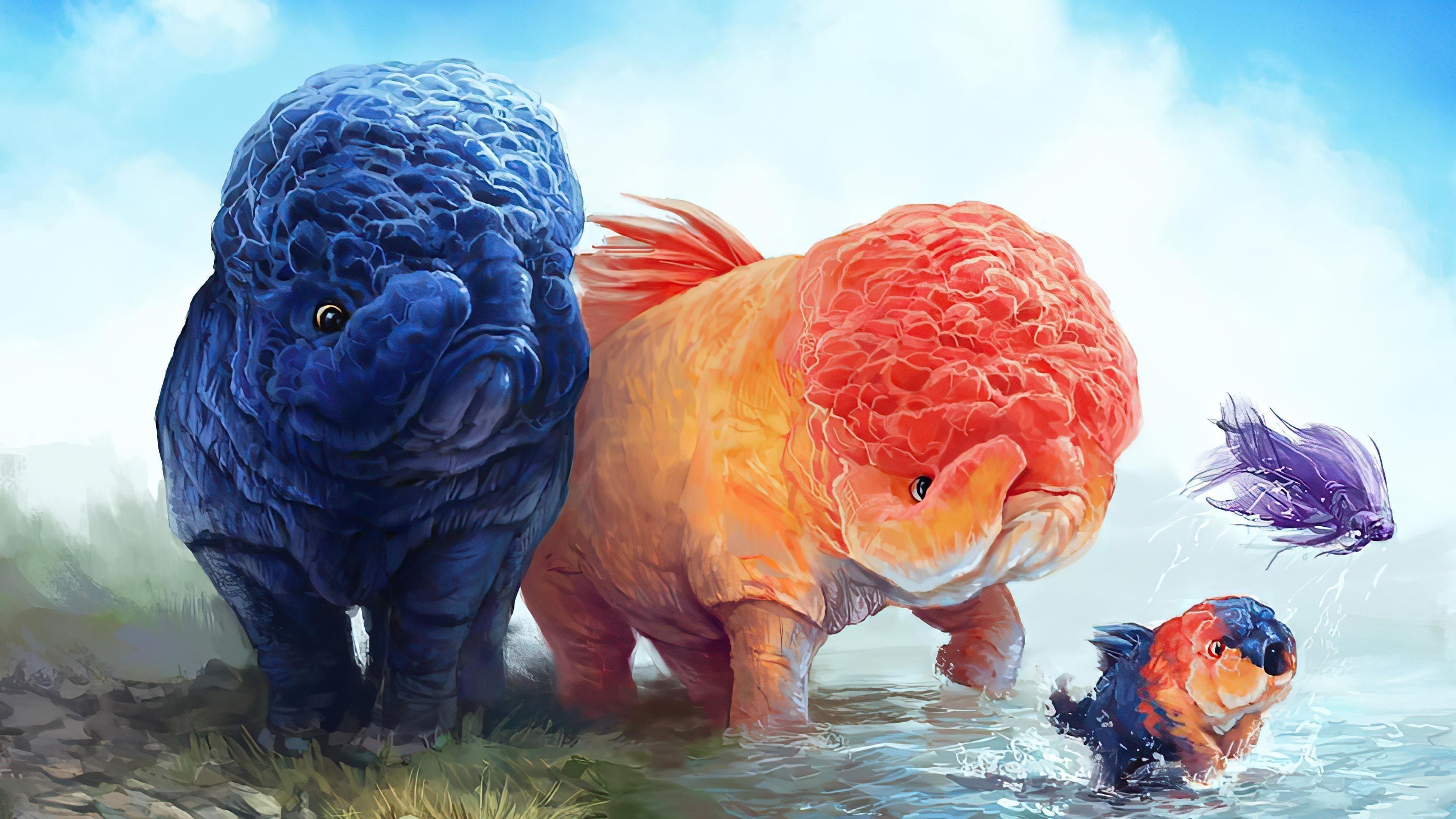 Фантастическое животное обои скачать