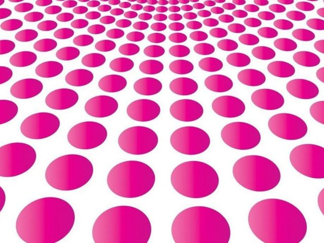 Розовая воронка художественный круглый белый фон абстрактный