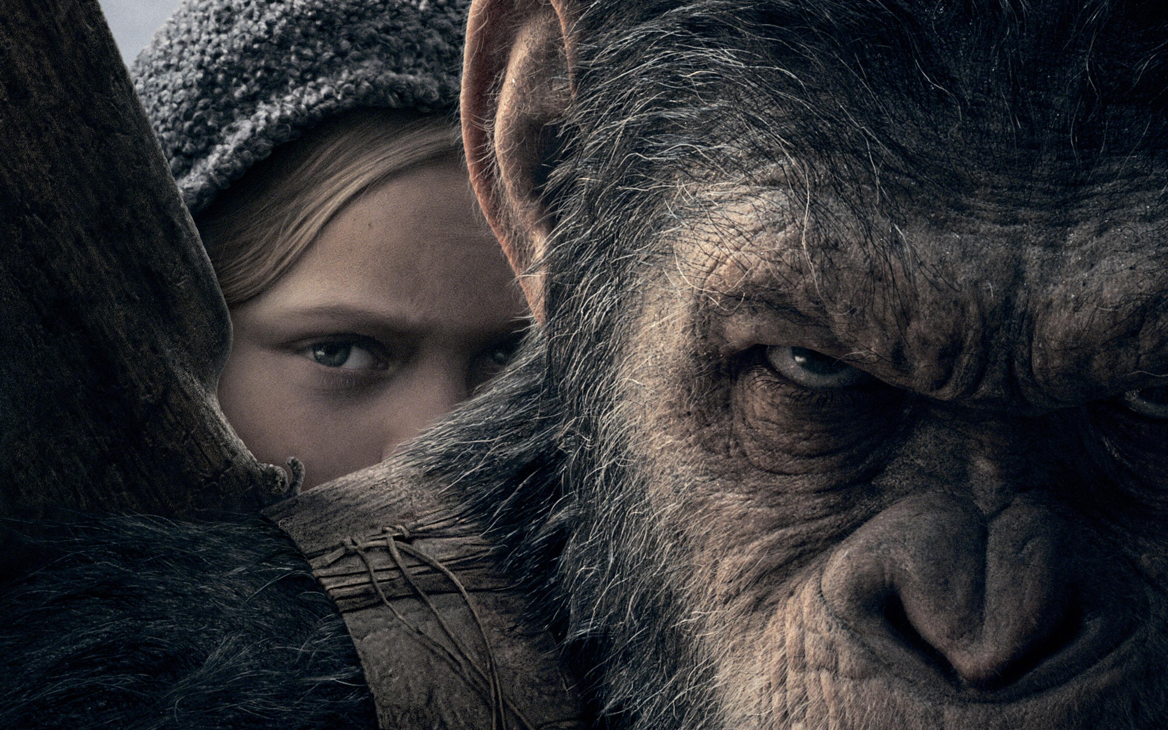 Amiah Миллер войну за планету обезьян. обои скачать