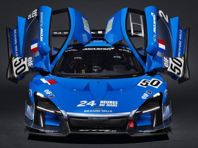 Синий Макларен Сенны ГТП лм это 2 HD автомобилей