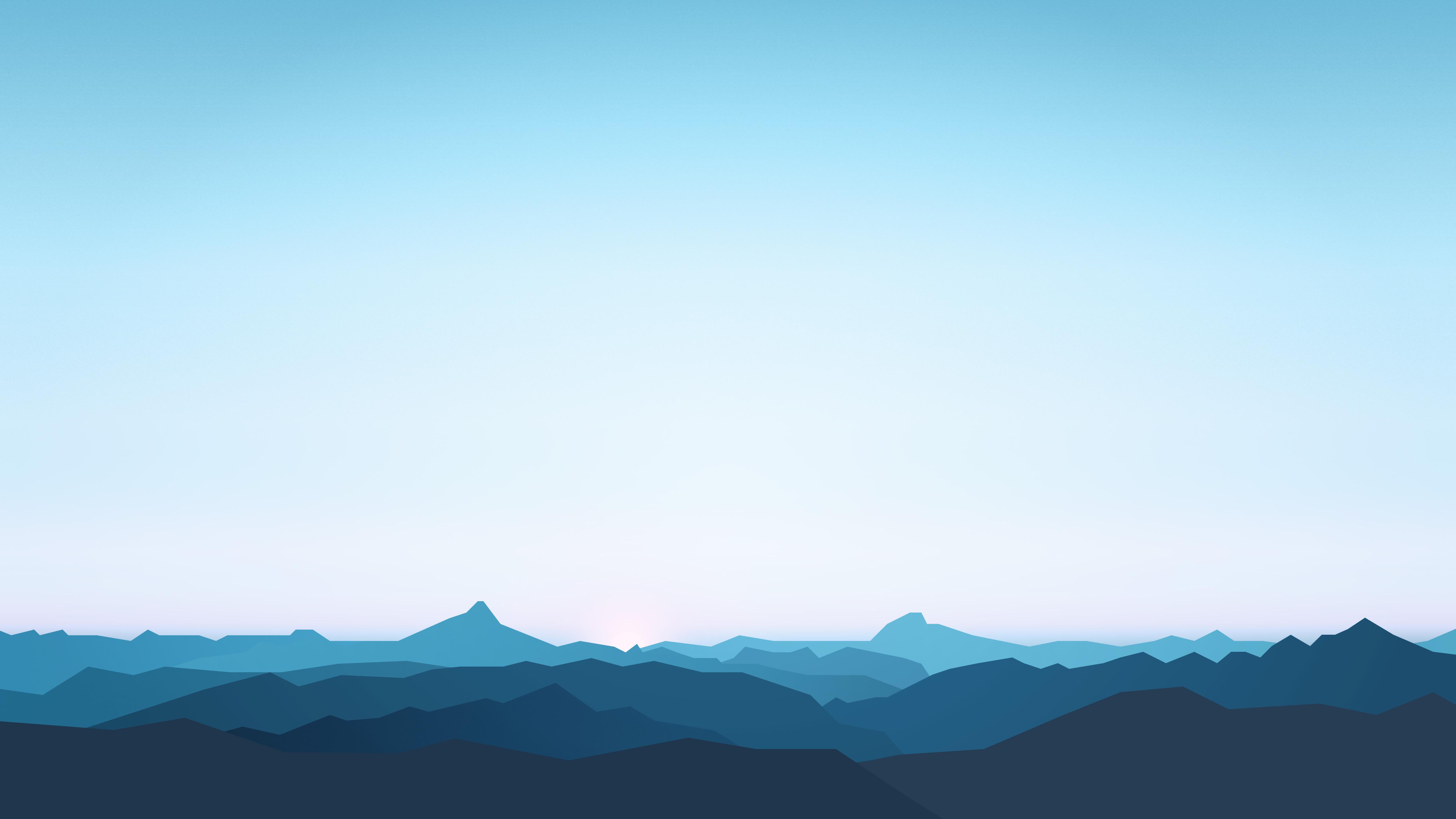 Горы минимальные обои скачать