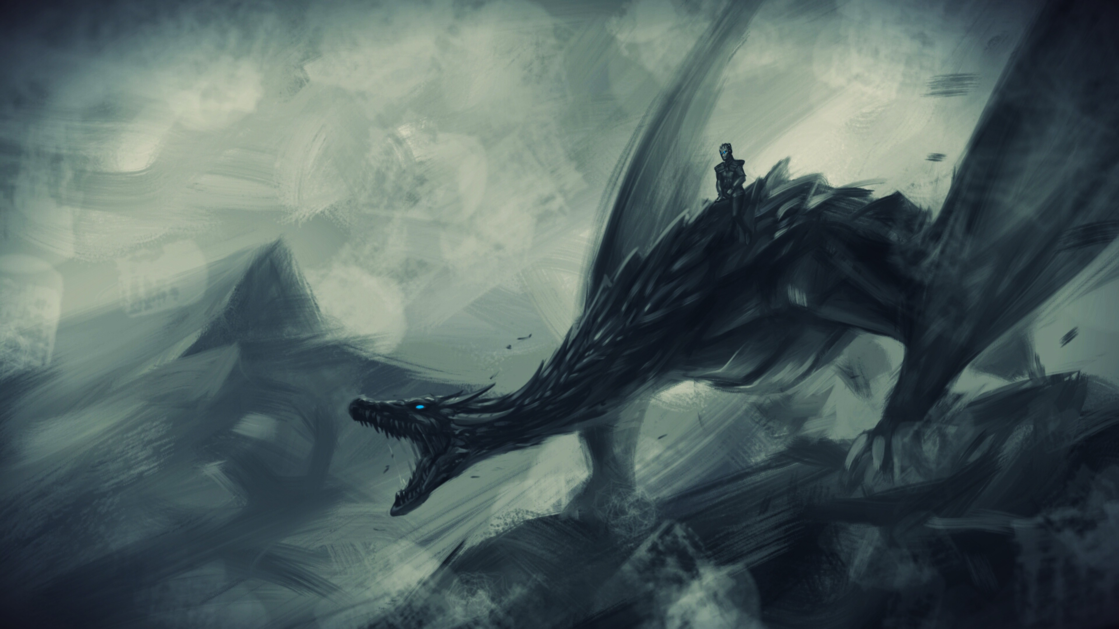 Ночь король езда на льду дракона игра престолов обои скачать