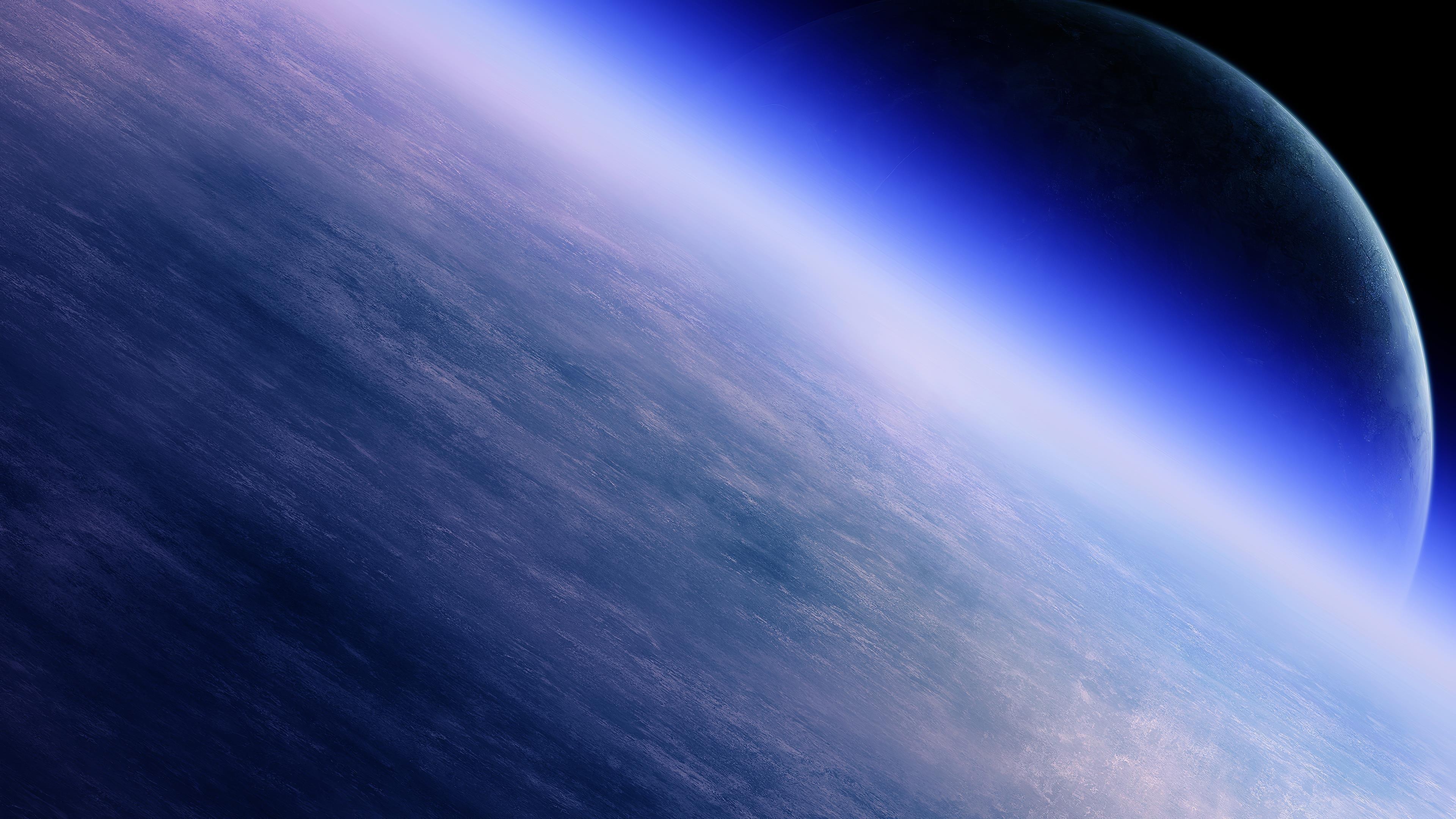 Горизонт атмосферы Земли обои скачать