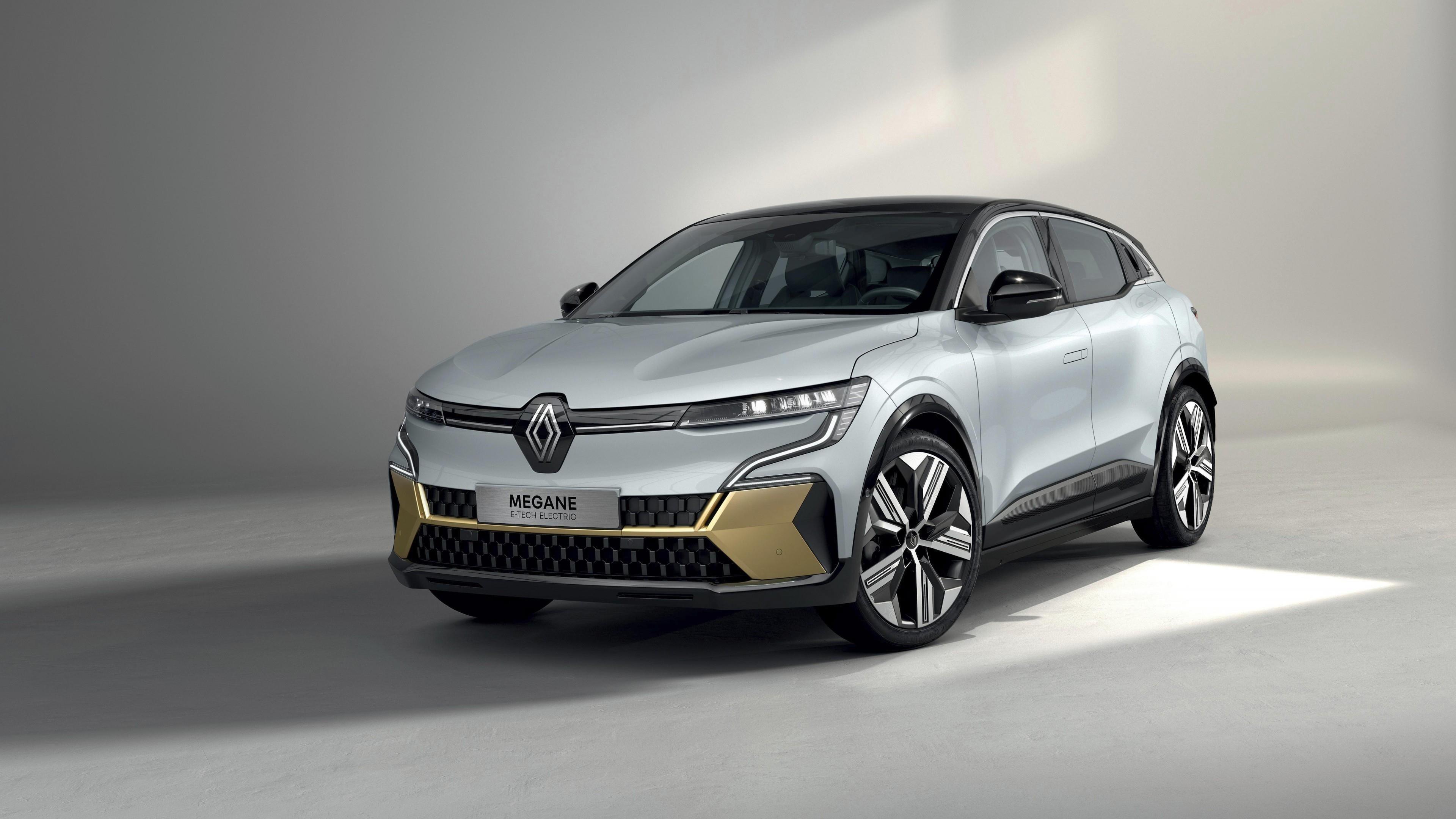 Автомобили renault megane e tech electric 2021 года выпуска обои скачать