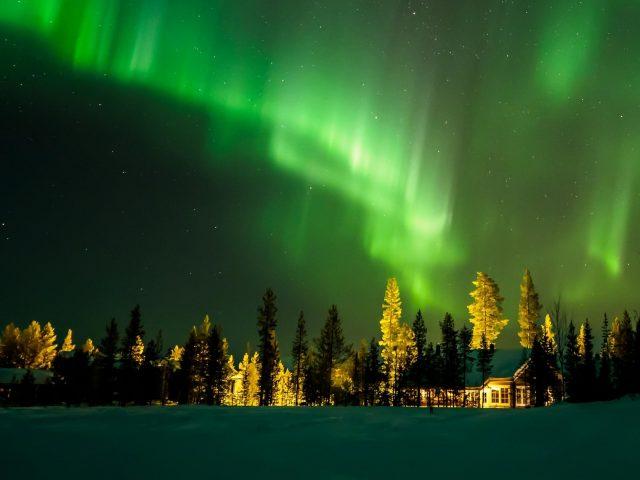 Северное сияние Финляндия
