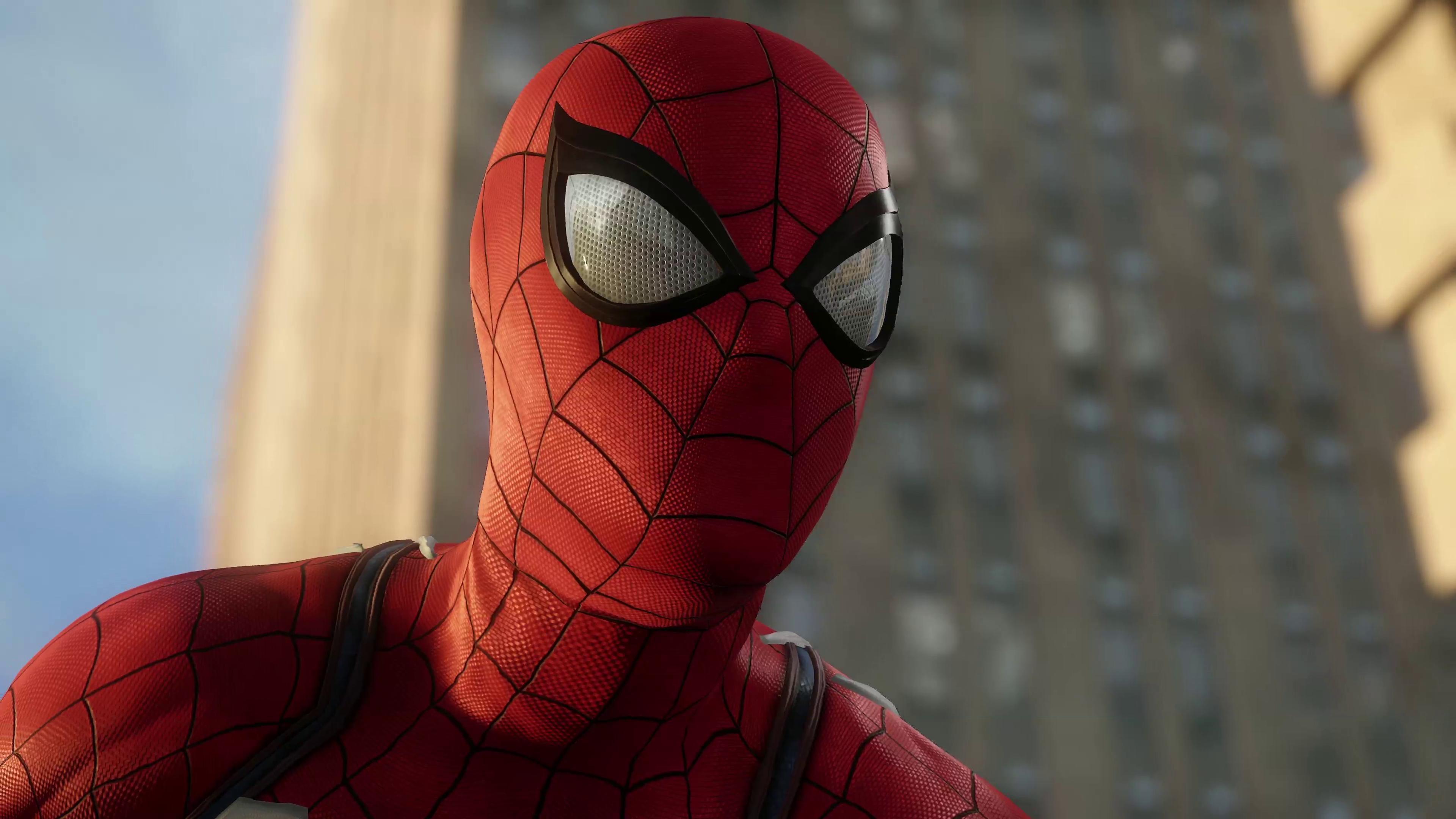 Человек-паук пс4. обои скачать