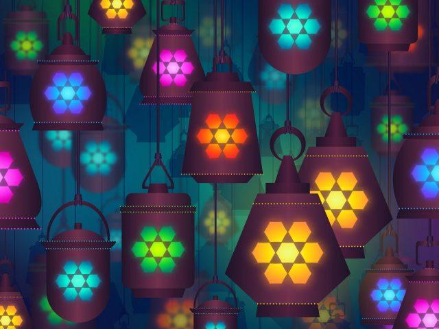 Красочные абстрактные фонари