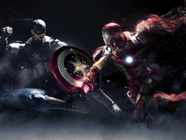 Капитан Америка против Железного человека.