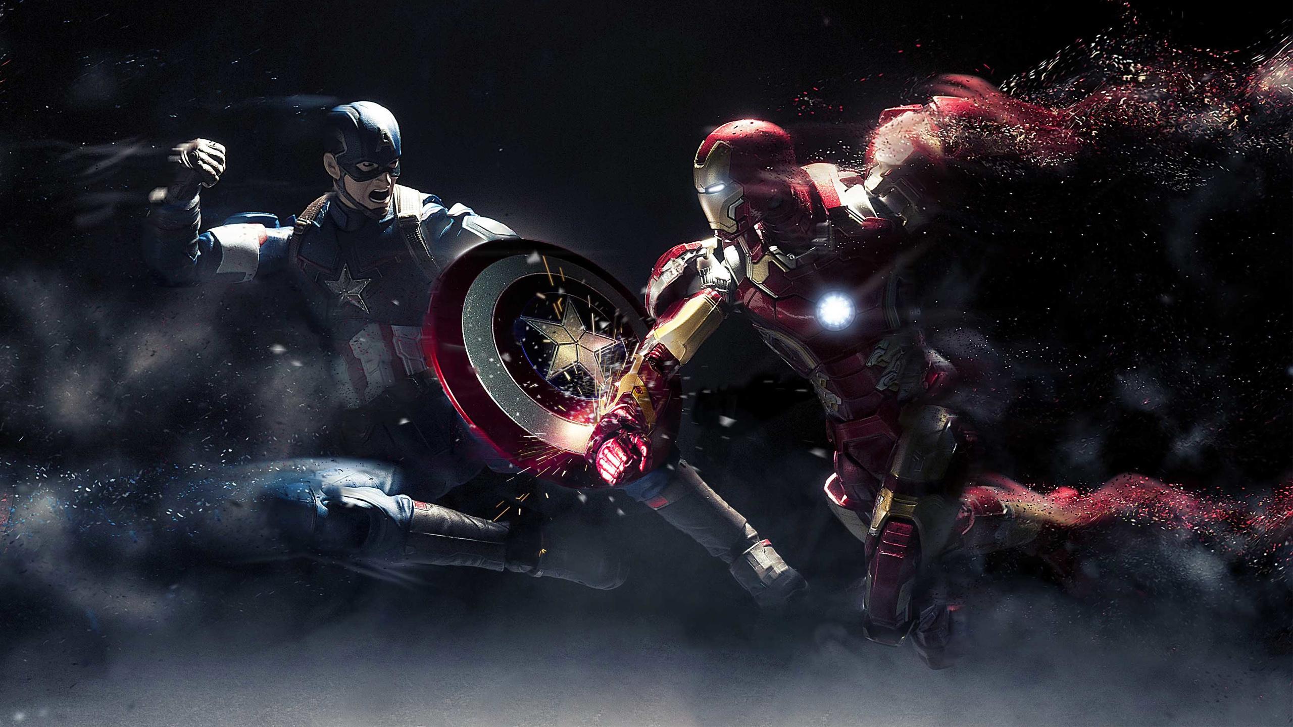Капитан Америка против Железного человека. обои скачать