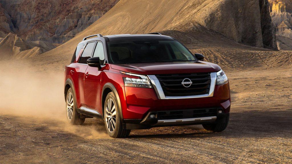 2022 nissan pathfinder platinum awd автомобили обои скачать