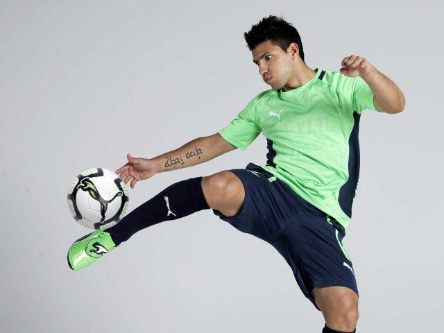 Серхио Агуэро футболист.