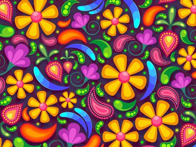 Цветочные абстрактные