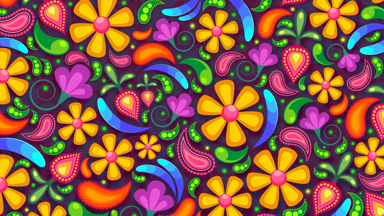 Цветочные абстрактные обои скачать