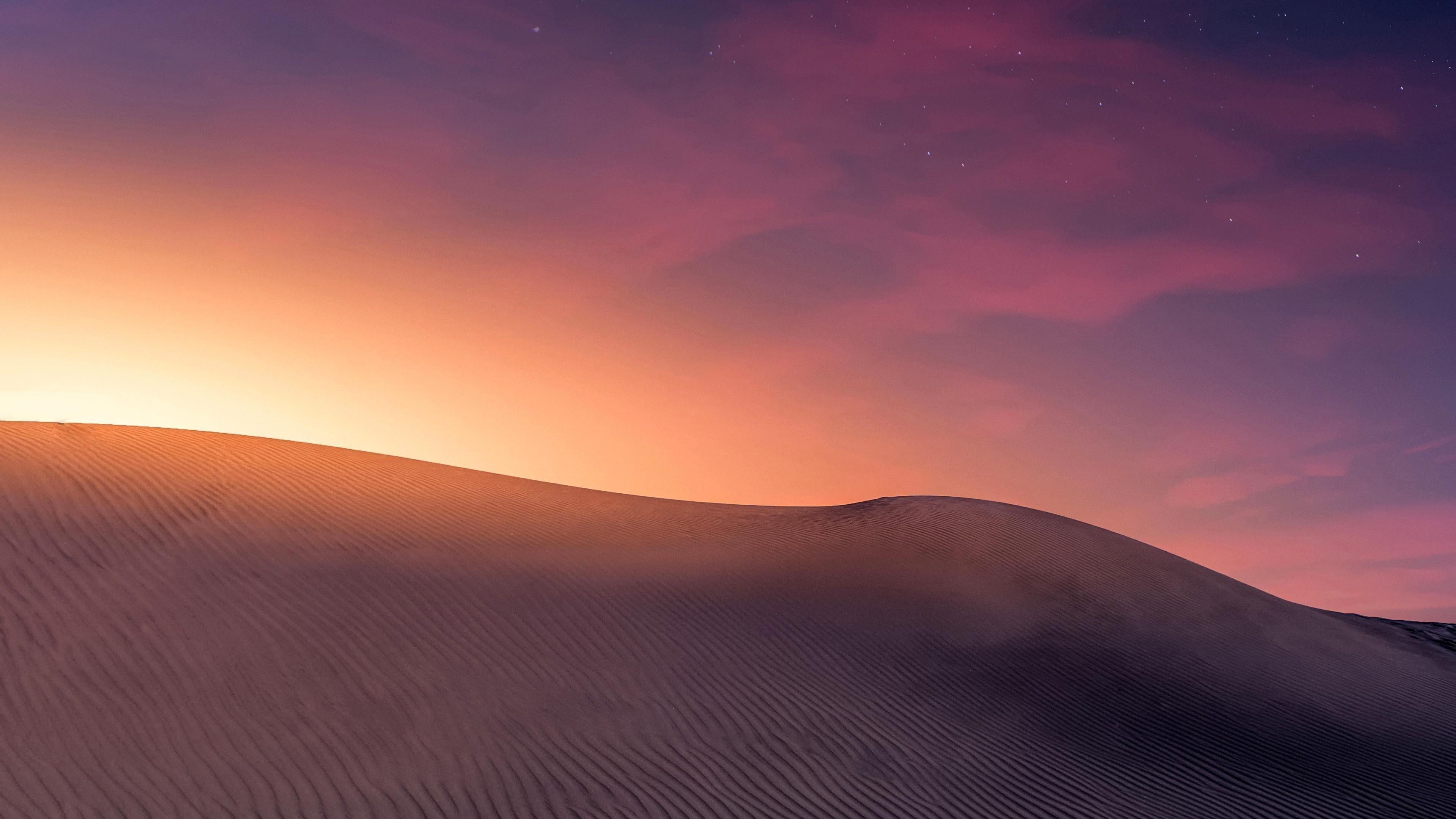 Закат в пустыне обои скачать
