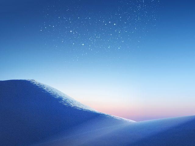 Дюны на фоне звёзд
