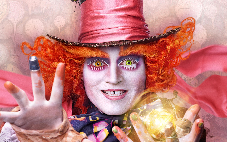 Безумный шляпник Алиса в Зазеркалье. обои скачать