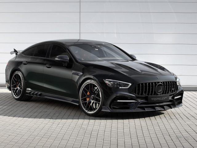 Черный топкар mercedes-amg gt 63 s 4matic+ 4-дверный купе inferno 2020 cars